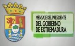Imagen de Mensaje del Presidente del Gobierno de Extremadura 2012 en Canal Extremadura