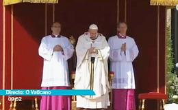 Imagen de Misa de entronización do Papa en TVG (Galicia)