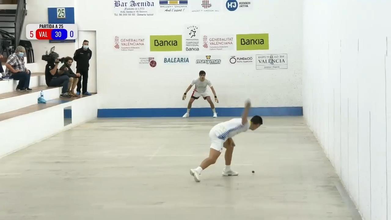 15.11.2020 | Vercher contra Tonet IV al Campionat Individual Bankia de Raspall