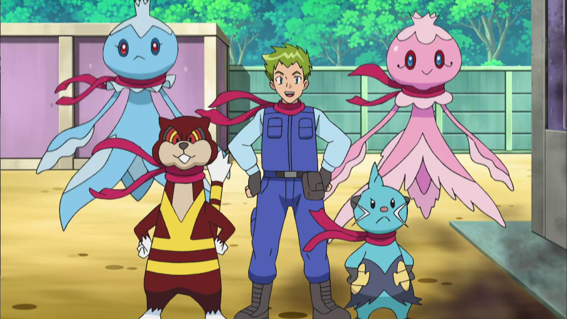 Temporada 16: Negro y blanco - Aventuras en Teselia y más allá T16 - C18: ¡La Patrulla portuaria Pokémon!