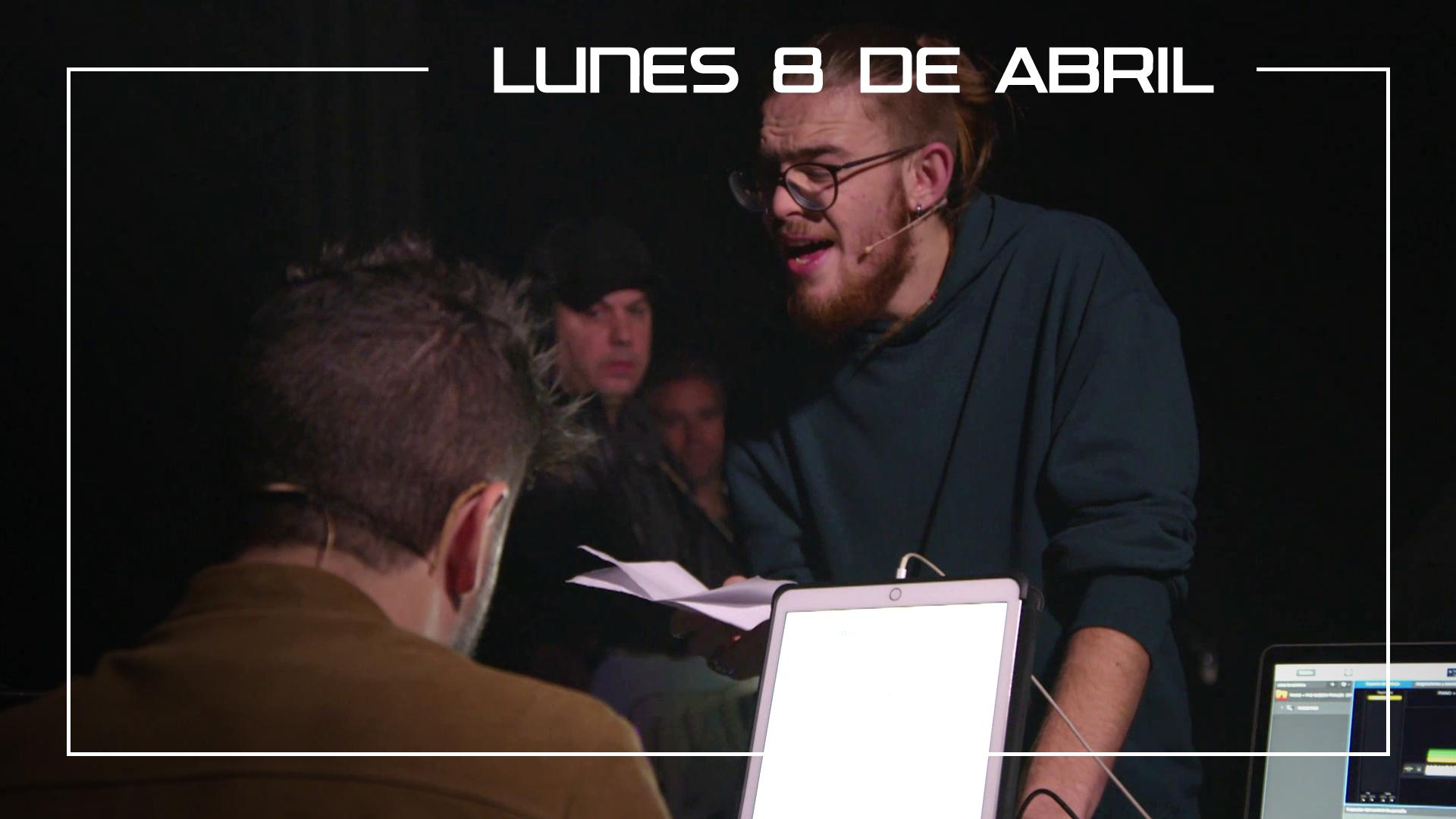 Lunes 8 de abril Andrés Martín ensaya con Pablo López en plató 'When a man loves a woman'