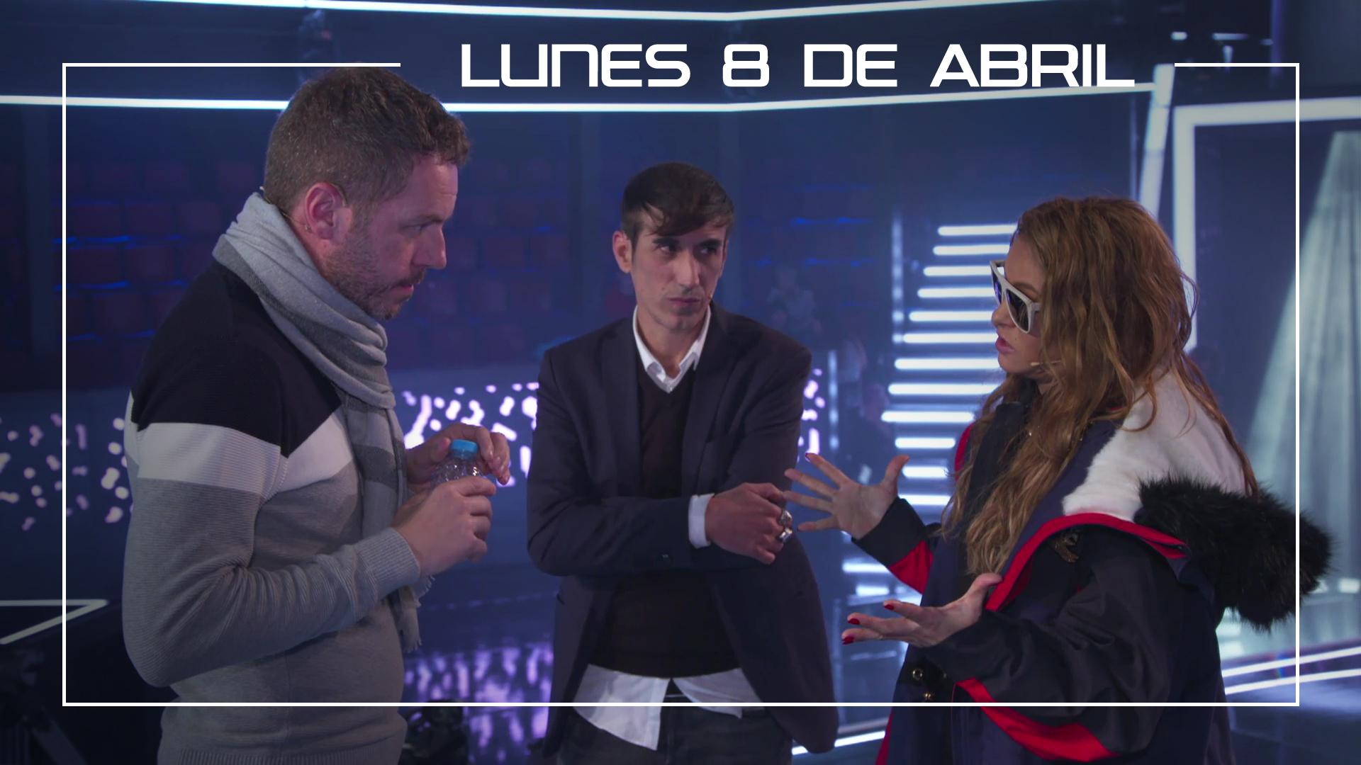 Lunes 8 de abril Ángel Cortés ensaya con Paulina Rubio en plató 'Unchained melody'