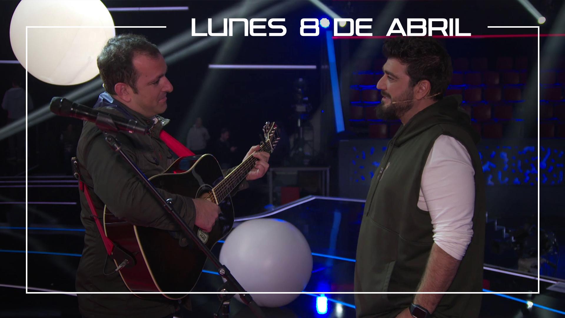 Lunes 8 de abril Javi Moya ensaya con Antonio Orozco en plató 'El sitio de mi recreo'