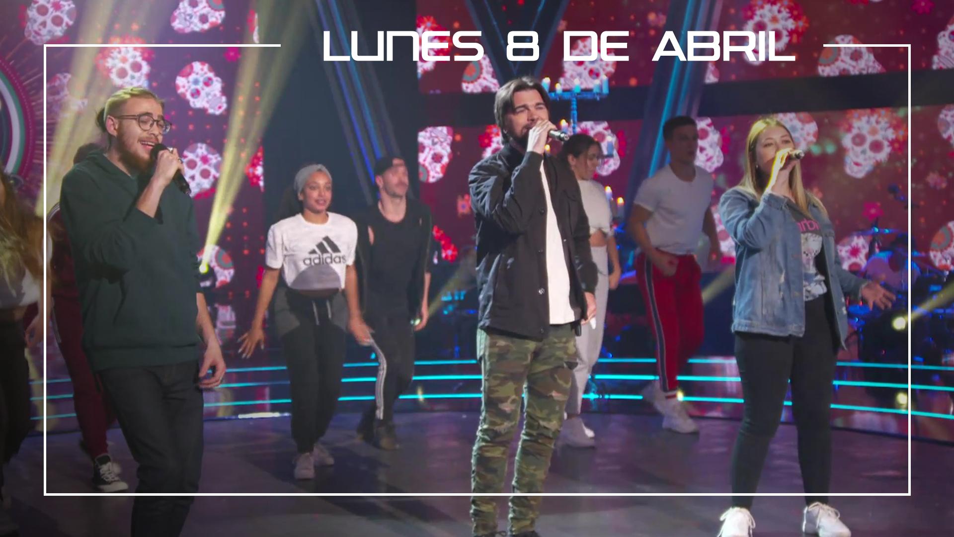 Lunes 8 de abril Juanes, Andrés Martín y María Espinosa ensayan en plató 'La Plata'