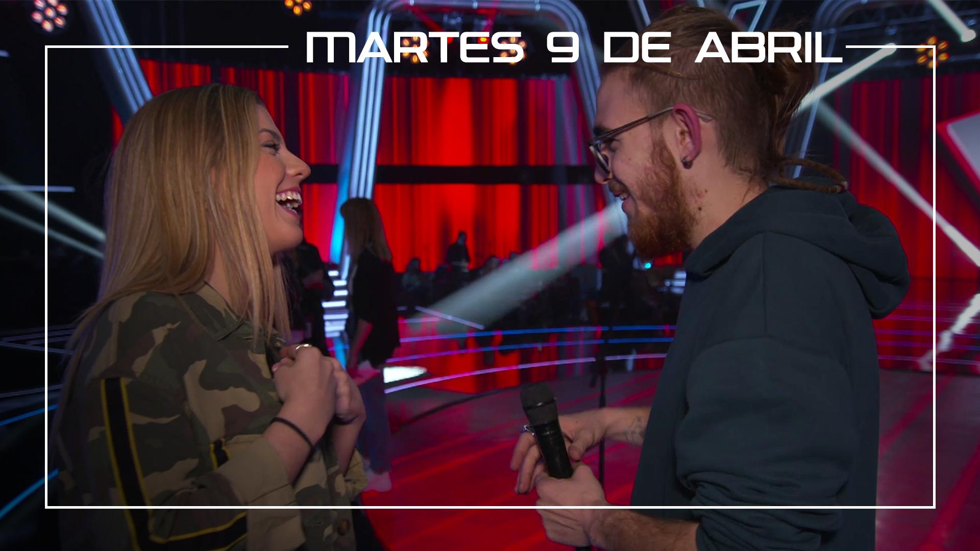 Martes 9 de abril Andrés Martín y Miriam Rodríguez ensayan en plató el tema 'Mejor sin miedo'