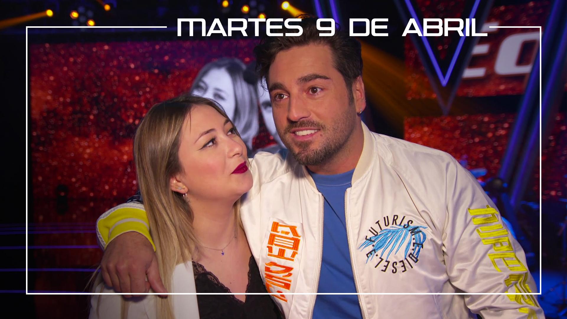 Martes 9 de abril María Espinosa y David Bustamante ensayan en plató el tema 'Héroes'