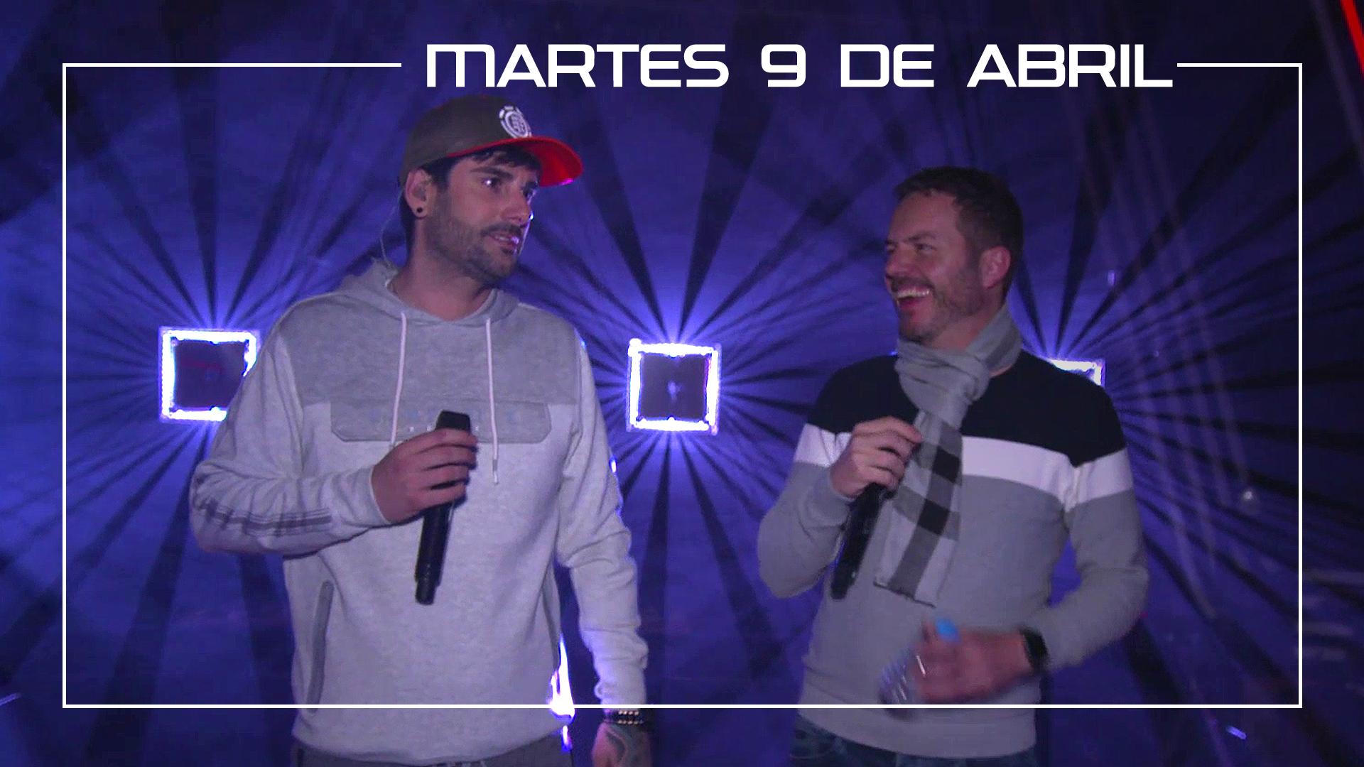 Martes 9 de abril Melendi y Ángel Cortés ensayan en plató el tema 'Besos a la lona'