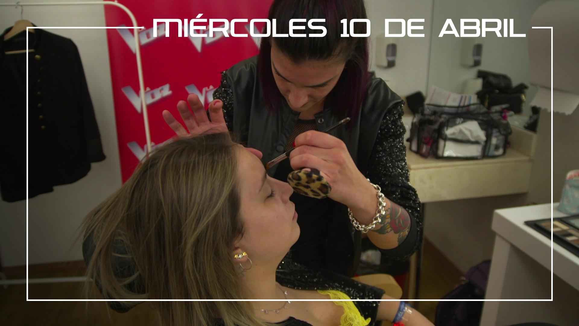 Miércoles 10 de abril Los finalistas pasan por maquillaje y peluquería para la Final