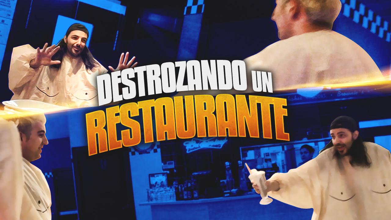 T1 Squad Nexxuz destroza un restaurante!! XD