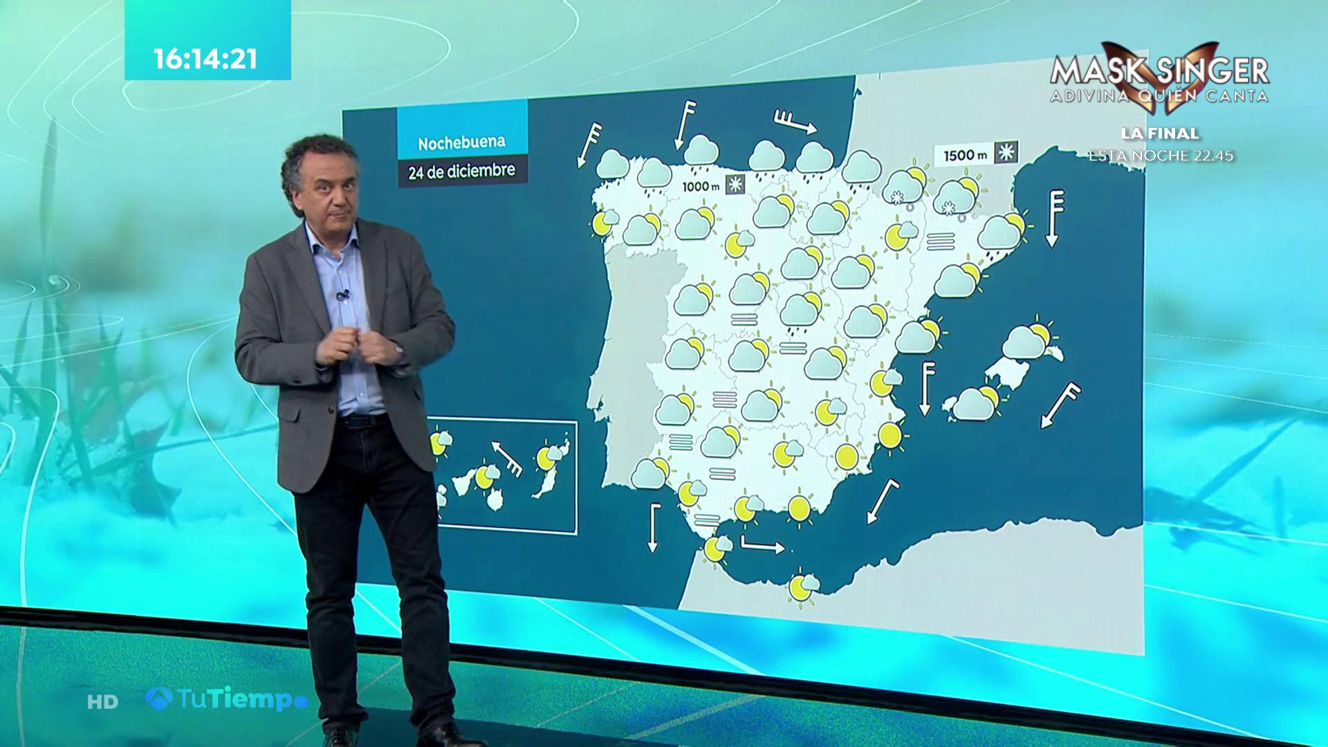 Diciembre 2020 (23-12-20) Lluvias fuertes en el oeste de Galicia y temperaturas en descenso