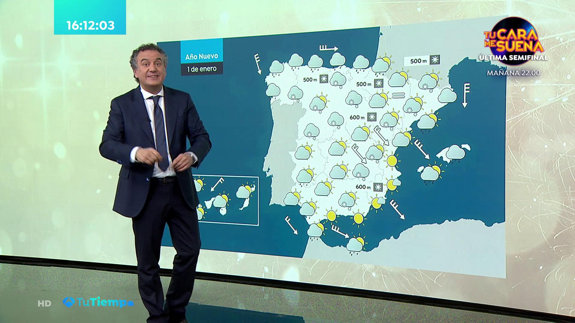 Diciembre 2020 (31-12-20) Lluvias persistentes en el Cantábrico y nevadas significativas en zonas altas del norte y centro peninsular