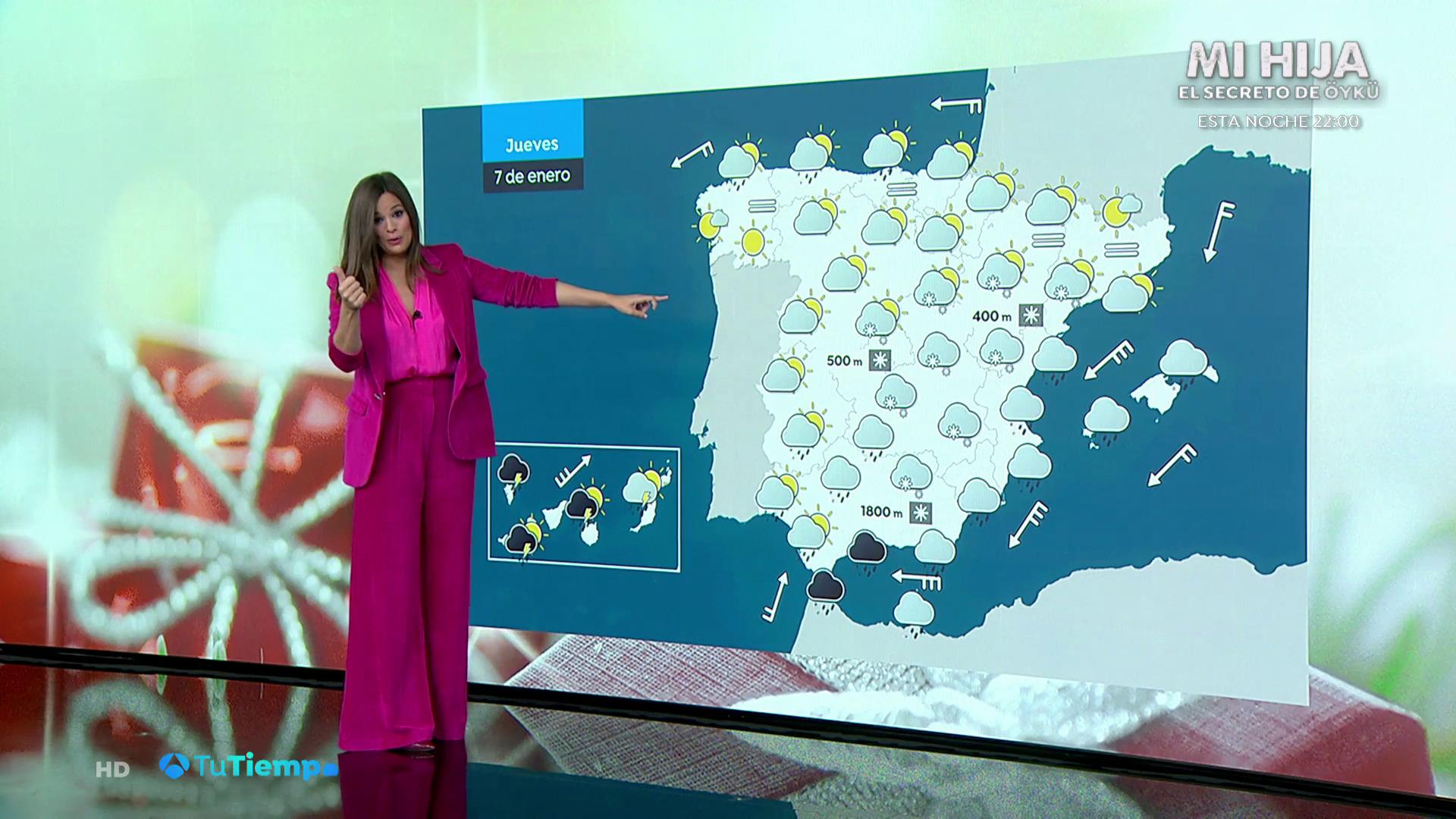 Enero 2021 (06-01-21) Lluvias fuertes y persistentes hoy en Canarias, Cádiz y en Málaga