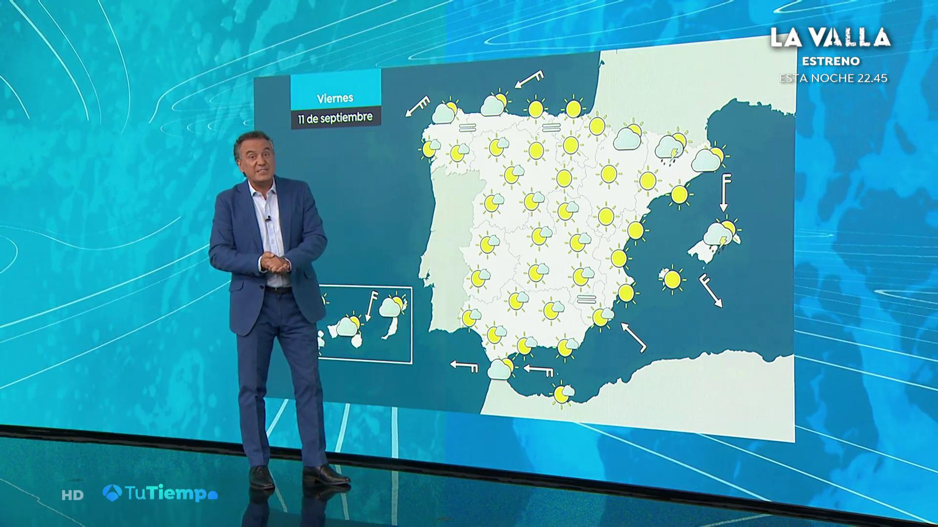 Septiembre 2020 (10-09-20) tiempo estable, salvo chubascos y tormentas en Mallorca y Menorca