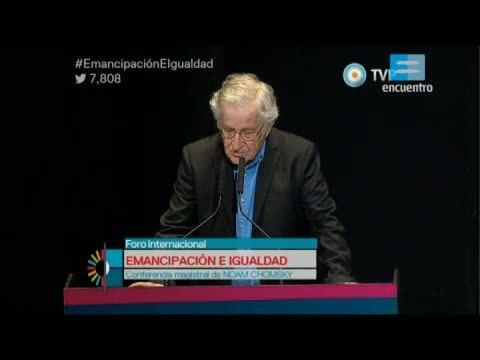 Foro Internacional Emancipación e Igualdad - 2 - Conferencia de Noam Chomsky y palabras de Anthony Arnove
