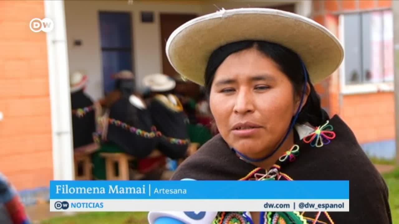 Barbijos andinos: el arte de las tejedoras indígenas