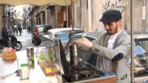 Cafetería ambulante en Nápoles