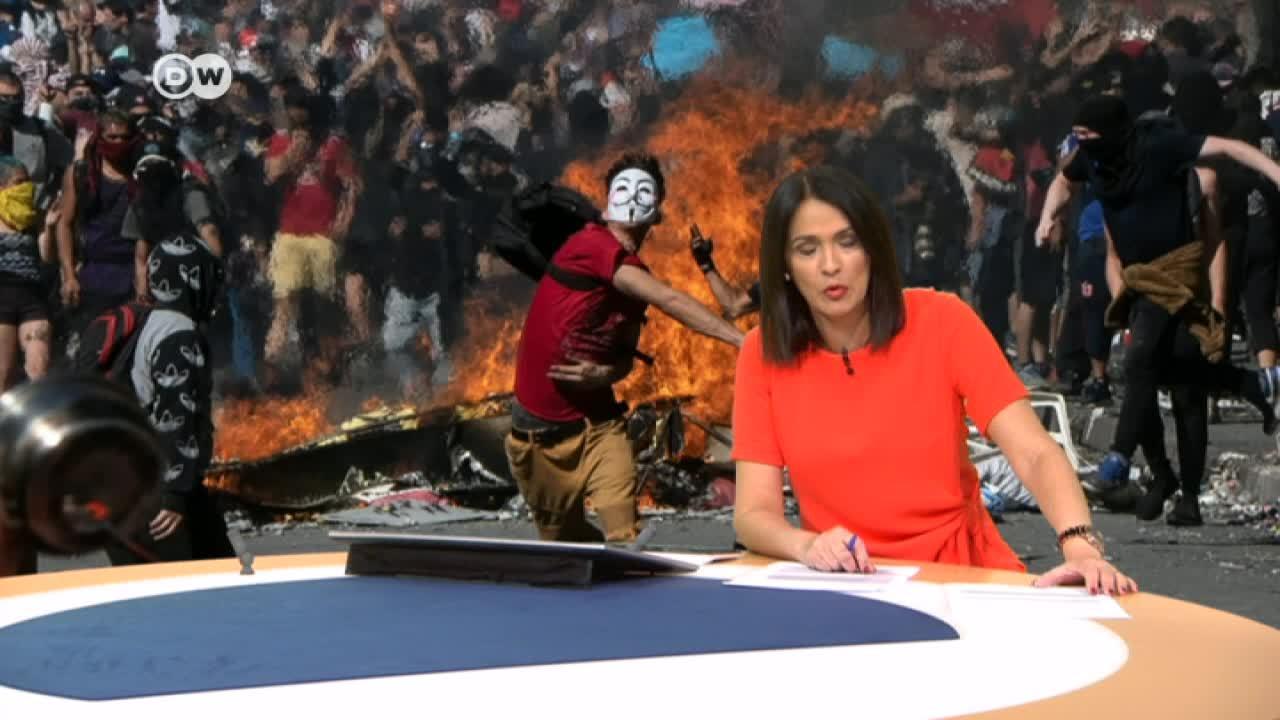 Canciller peruano Gustavo Meza Cuadra sobre la crisis en Chile (soundbite)