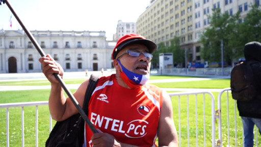 Chilenos protestan contra migración ilegal