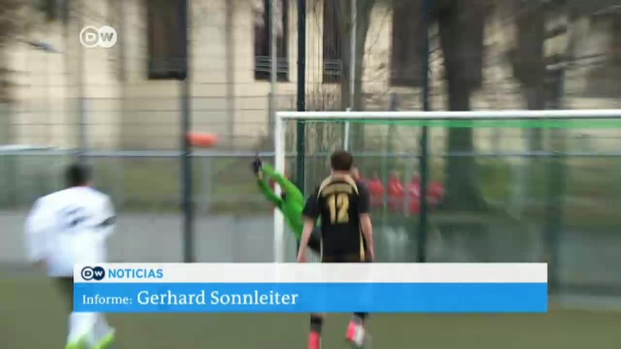 Club de fútbol integra a refugiados sirios