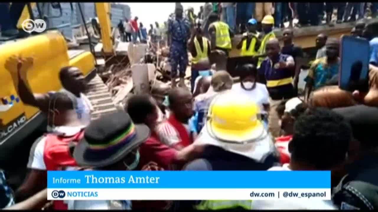 Derrumbe de un colegio en Nigeria