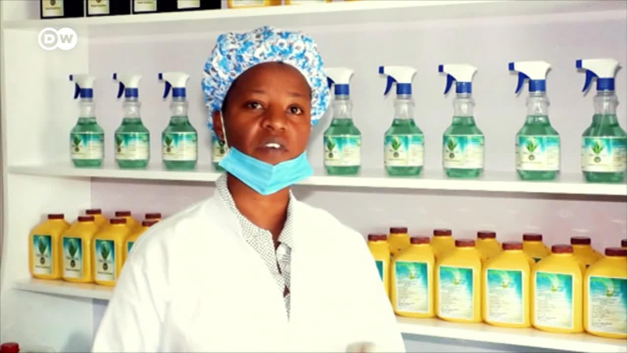Desinfectante local en Ruanda