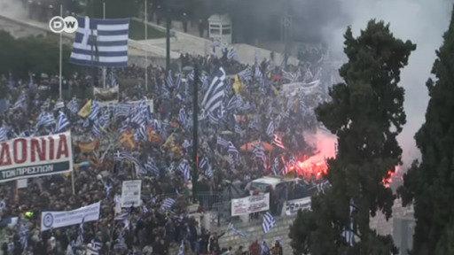Enfrentamientos en Atenas contra nombre de Macedonia del Norte