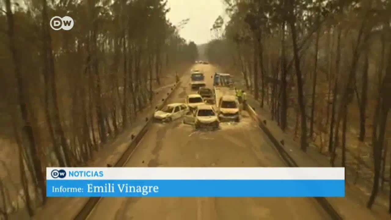 Incendio en Portugal prosigue su avance