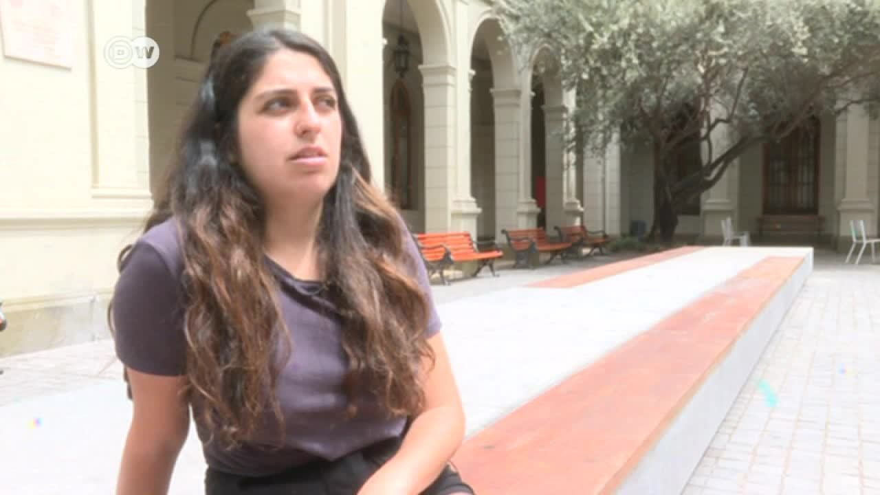Líder universitaria quiere cambios en Chile