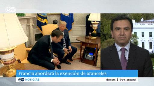Macron de visita en EE. UU.