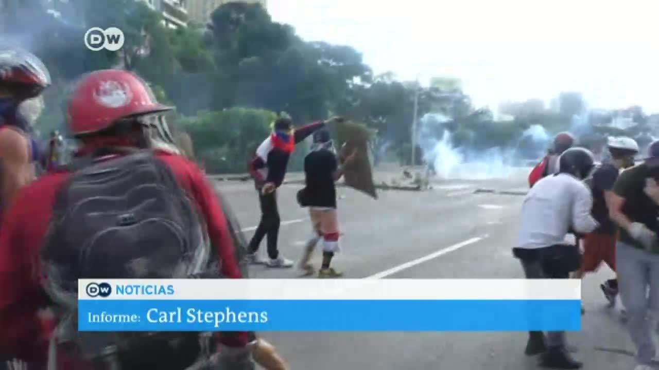 Manifestación de la oposición en Caracas