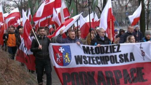 Marcha nacionalista en Polonia