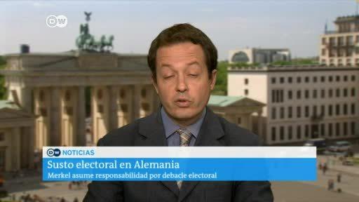 Merkel asume responsabilidad por debacle electoral