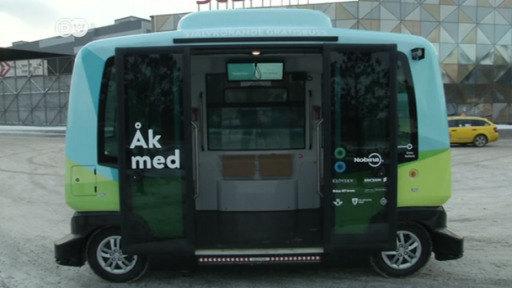 Primer autobús autónomo por las calles de Estocolmo