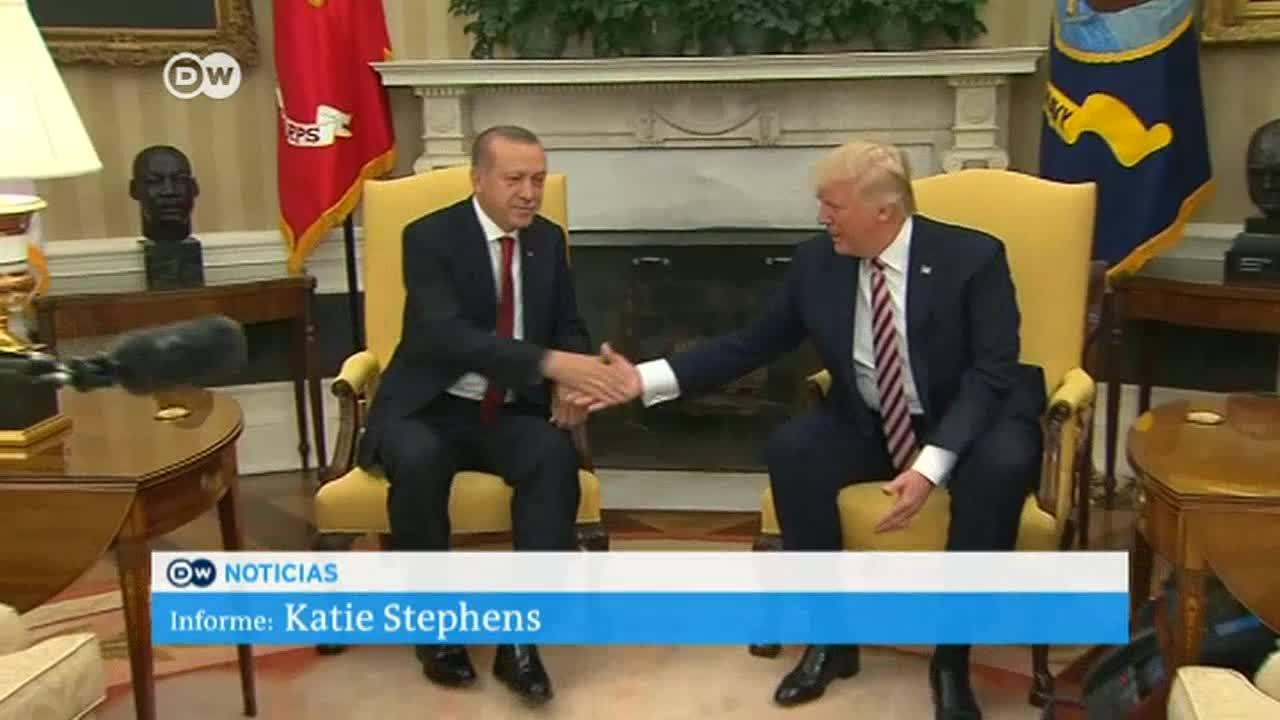 Primer encuentro de Trump y Erdogan