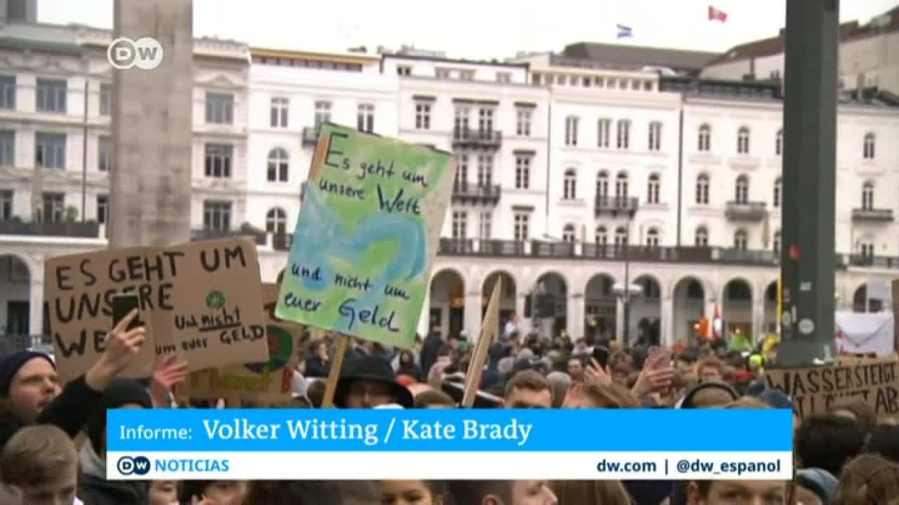 Protestas para exigir medidas contra el cambio climático en Hamburgo