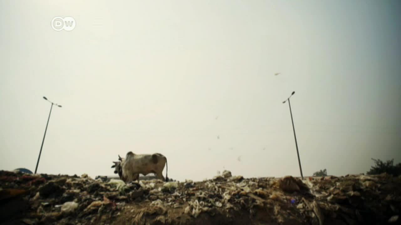 Reciclado de basura en la India con ayuda de niños