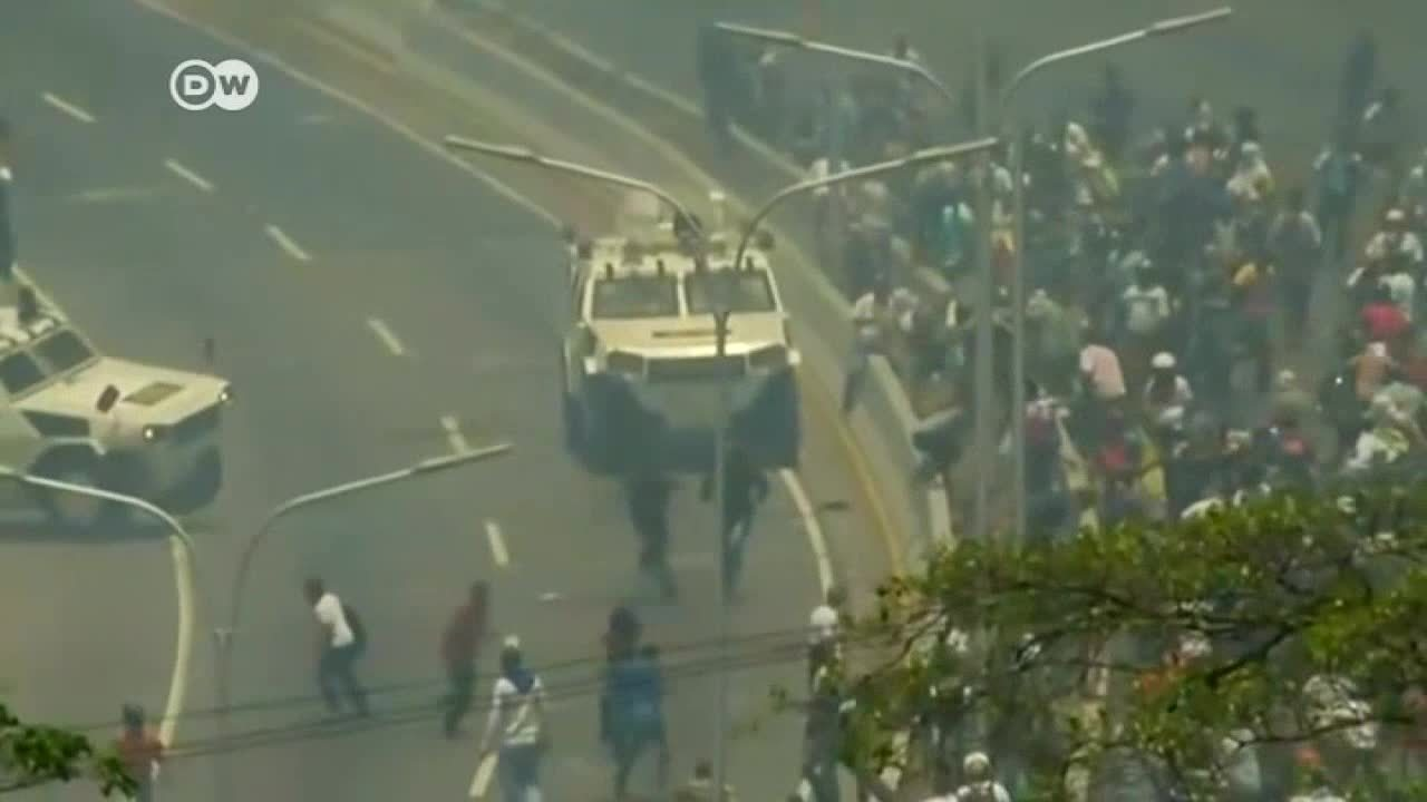 Tensa jornada en Venezuela