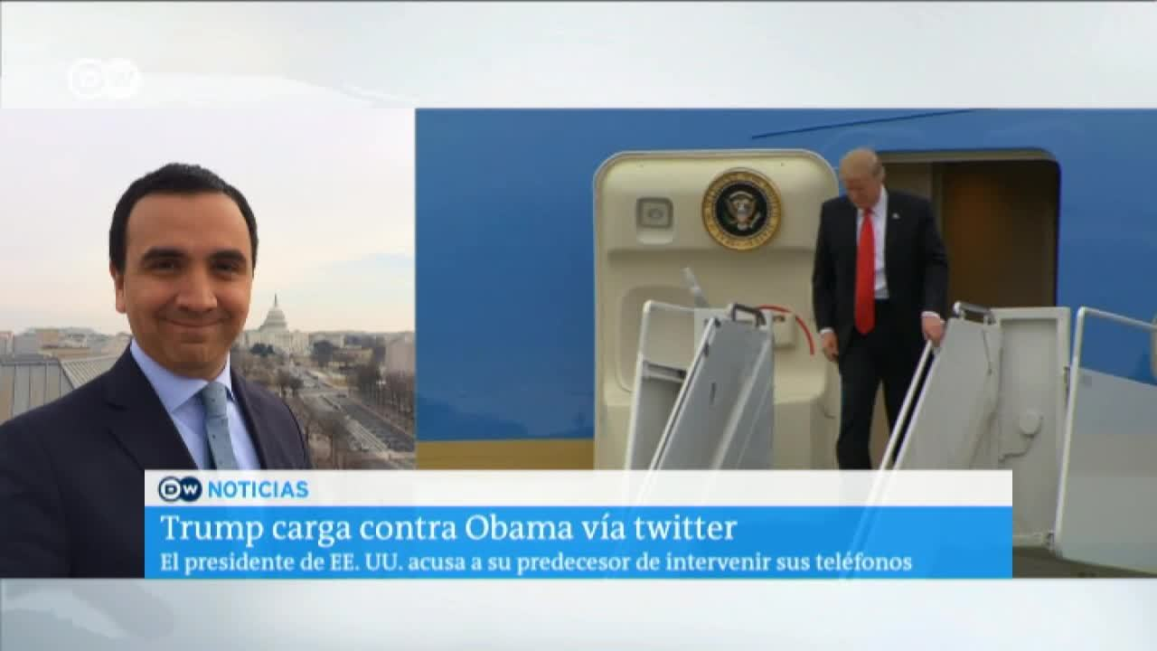 Trump acusa a Obama de intervenir llamadas durante campaña