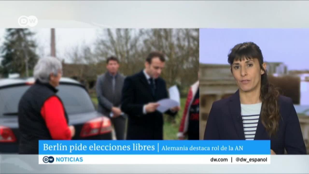 UE apoya a Guaidó y pide convocatoria a elecciones