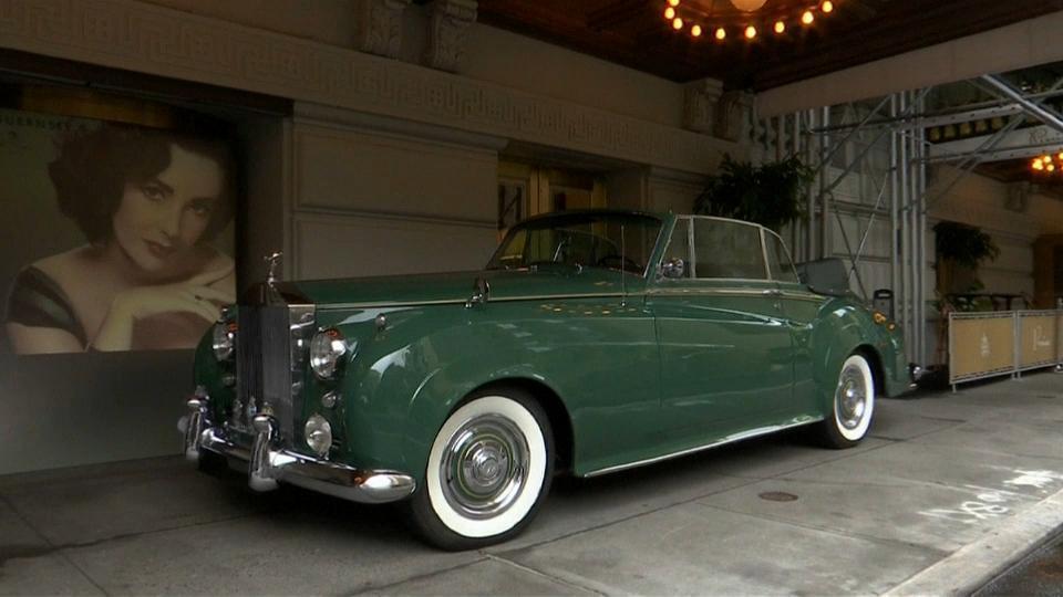 A subasta el icónico Rolls Royce verde de la actriz Elizabeth Taylor