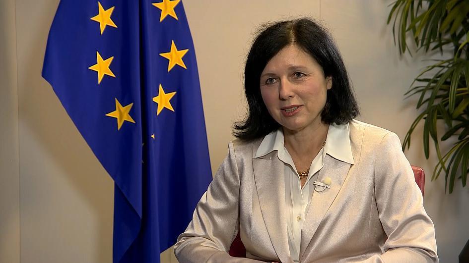 Vera Jourová,  vicepresidenta de la Comisión: