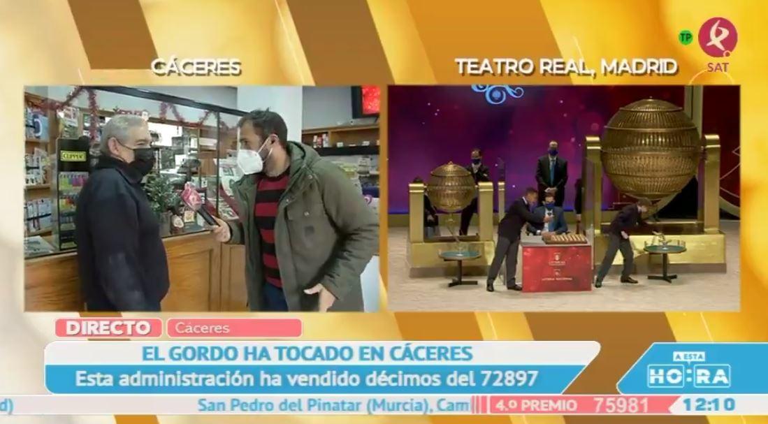 72897, este año El Gordo se ha vendido en esta administración de Cáceres