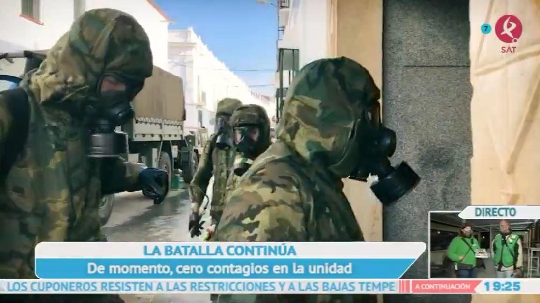 El ejército vuelve a la lucha contra el coronavirus en Extremadura