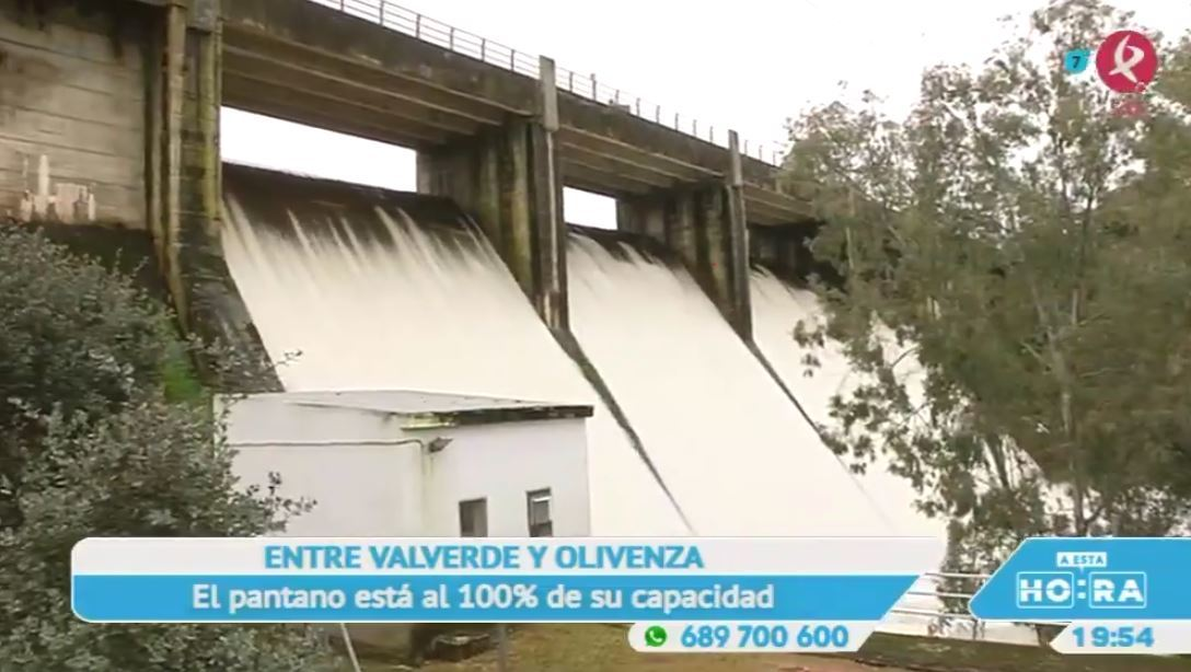El embalse de Piedra Aguda está hasta arriba para alegría de Olivenza y Valverde de Leganés