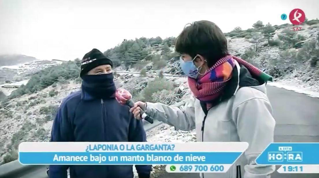La nieve llega a Extremadura y cubre La Garganta