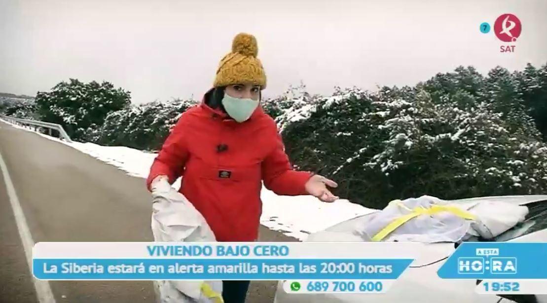 La nieve toma por sorpresa a la Siberia Extremeña
