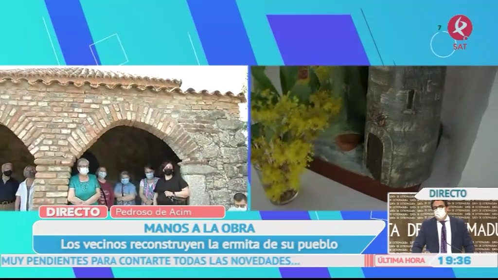 Los vecinos reconstruyen la ermita de Pedroso de Acim