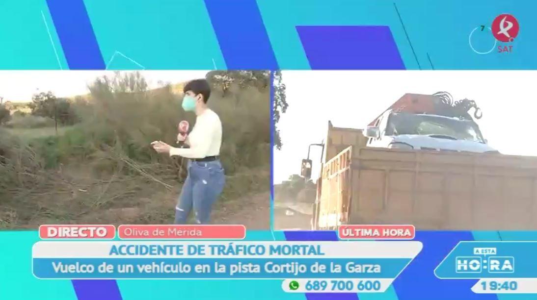 Una mujer fallece al volcar su coche cerca de Oliva de Mérida