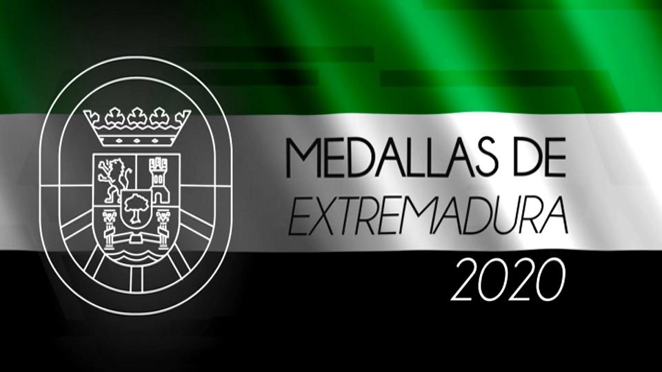 Acto de entrega de medallas Extremadura 2020