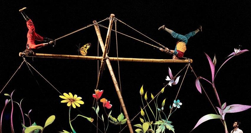 Llega Circ Bover, pioneros en utilizar bambú... para hacer acrobacias circenses
